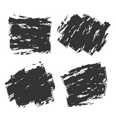 set of black vector image vector image