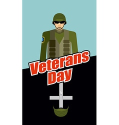 Veterans Day Soldiers and Tomb Patriotic vector image