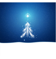 winter blue background with blizzard and stars vector image
