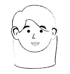 cute women face vector image