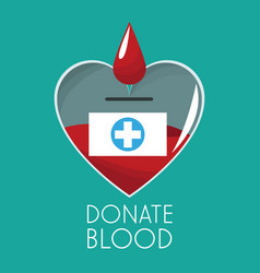 donate blood campaign design vector image vector image