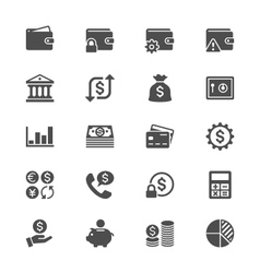 Financial management flat icons vector image vector image