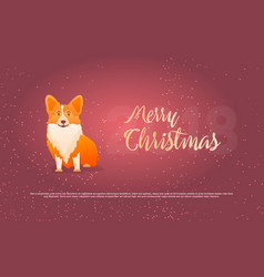 funny dog and merry christmas symbol of year vector image vector image