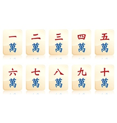 Mahjong number vector