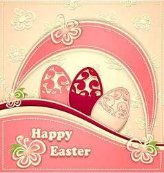 Paper Easter Eggs pink vanilla vector image vector image