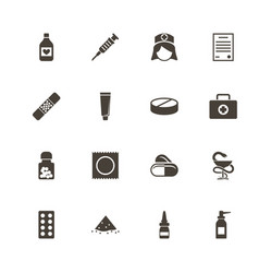 pharmacy - flat icons vector image vector image