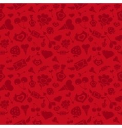Sweet Red Valentine Pattern vector image vector image
