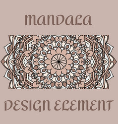 Vintage card with design element pattern vector