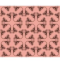 Vintage Retro floral ornament pattern vector image