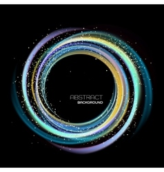 Abstract background with luminous swirling vector image