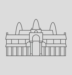 Angkor Wat Cambodia vector