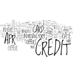 apr credit cards tips tricks text word cloud vector image