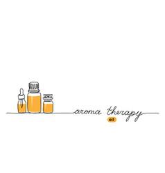 Aromatherapy oil bottle set aroma oil vector