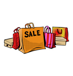 bags sale season discount isolate on white vector image