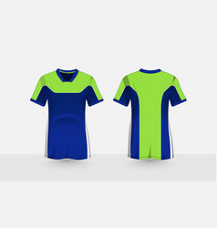 Blue and green layout e-sport t-shirt design vector