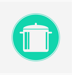 boiling pot icon sign symbol vector image