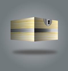 Box wooden box 3d vector