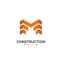 Brick logo construction logo design vector