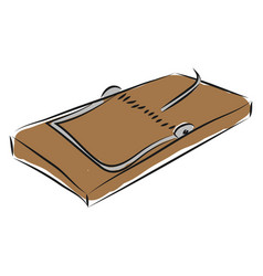 Brown mouse trap on white background vector