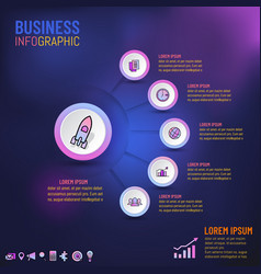 business infographics template for presentation vector image