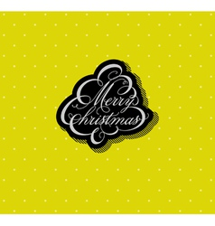 Calligraphic christmas tree vector