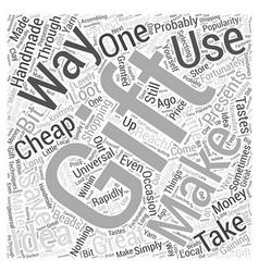 Cheap gift idea Word Cloud Concept vector