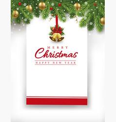 christmas card new year background vector image