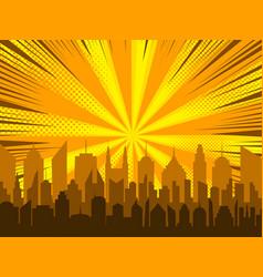 Comic cityscape background vector