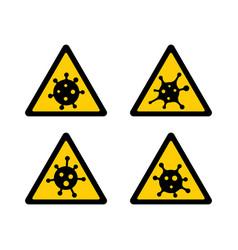 coronavirus 2019-ncov corona virus attention icon vector image