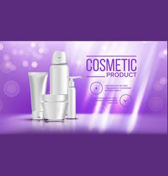 cosmetic bottle banner product branding vector image