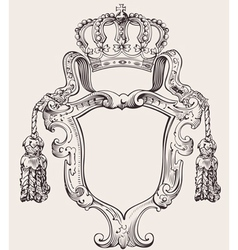 crown insignia vector image