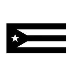 cuba flag black and white country national emblem vector image