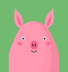 cute pink pig snout flat vector image
