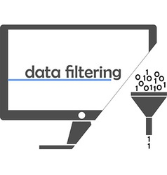 data filtering vector image