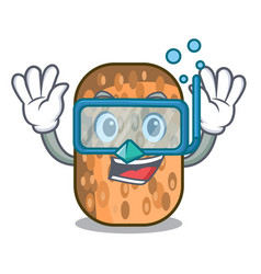 Diving fried tempeh in bowl character wooden vector