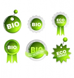 ecology bio signs vector image