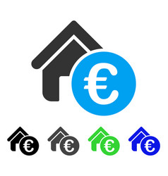 Euro home rent flat icon vector