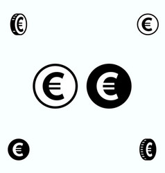 Euro icons isolated vector