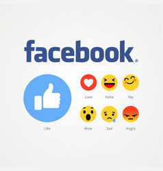 Facebook new like buttons vector