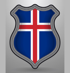 Flag of iceland badge and icon vector