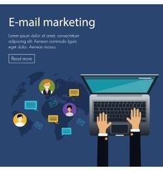 Flat design concept e-mail marketing vector