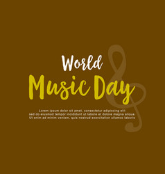 Flat of world music day collection vector