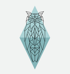 Geometric owl wild animal vector