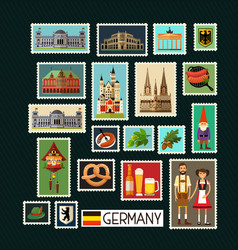 German stamps vector