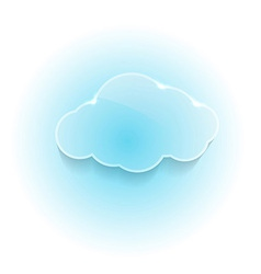 Glossy shiny dream cloud vector