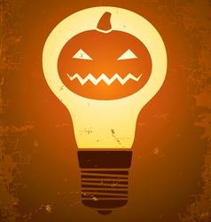 Halloween bulb vector
