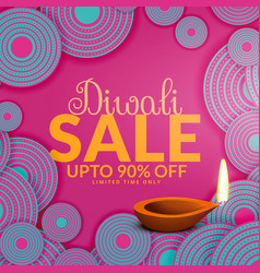 Happy diwali sale offers and deals vector