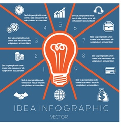 Idea Business Concept Light bulb infographic 10 vector image