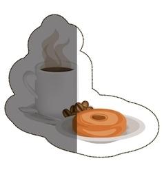 Isolated donut and coffee mug design vector