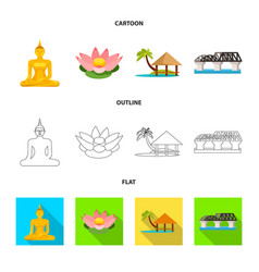 Isolated object journey and exotic logo vector
